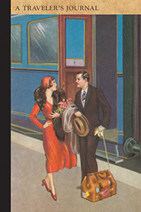 Couple on Train Platform: A Traveler's Journal